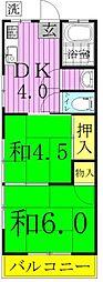 コーポ嶋脇[305号室]の間取り