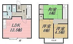 [タウンハウス] 千葉県千葉市中央区矢作町 の賃貸【/】の間取り