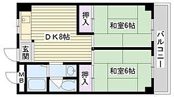 今津マンション[608号室]の間取り
