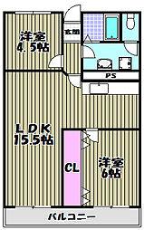 シャルムメゾン高橋[3階]の間取り