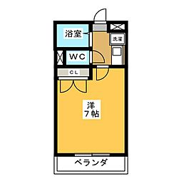 DEUXIEME CONFORT[2階]の間取り