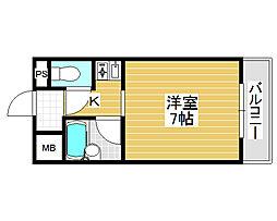 リープハーベン北花田[3階]の間取り