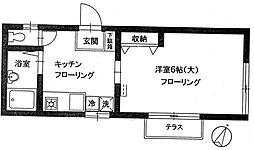 ハイツフタバ[1階]の間取り