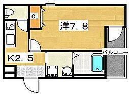 フジパレス牧野II番館[2階]の間取り