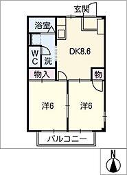 エクセルハイム小木田[2階]の間取り