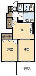 カルム メゾン Ⅱ[1階]の間取り