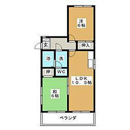 ラ・フォーレ矢田No.1[2階]の間取り