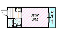 エムロード赤川[3階]の間取り