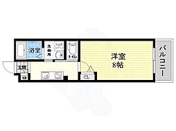 阪神本線 尼崎駅 徒歩7分の賃貸マンション 2階1Kの間取り