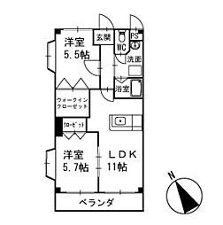 ハイム十王 2階[201号室]の間取り