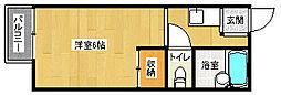 京都府京都市左京区一乗寺松原町の賃貸アパートの間取り