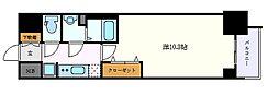 名古屋市営鶴舞線 丸の内駅 徒歩5分の賃貸マンション 13階1Kの間取り