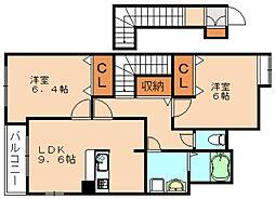 ドルチェ赤坂[2階]の間取り