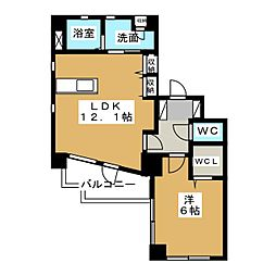 Lieben-CourtII[6階]の間取り