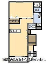 (新築)エムグレイスR[102号室]の間取り