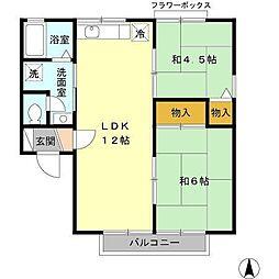 大樹コーポ[2階]の間取り