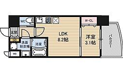 SERENiTE福島scelto 4階1LDKの間取り
