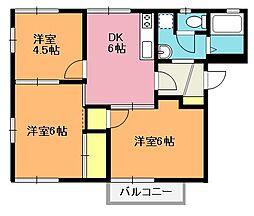ドミールアズマA[2階]の間取り