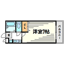兵庫県尼崎市水堂町3丁目の賃貸アパートの間取り