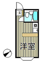 ベルピア鎌倉第8[203号室]の間取り