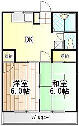 ハイムK[2階]の間取り