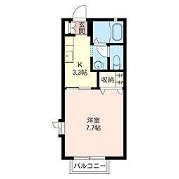 パステルハウスB[1階]の間取り