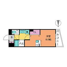 ラシュレ筒井[2階]の間取り