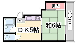 阪急堂パレス[3階]の間取り