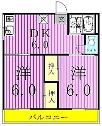 京屋誠コーポA[105号室]の間取り