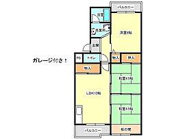兵庫県神戸市垂水区桃山台2丁目の賃貸マンションの間取り