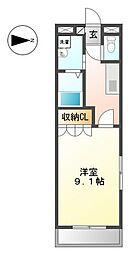 愛知県名古屋市港区正徳町3丁目の賃貸マンションの間取り