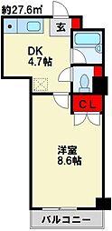 fairebriller 黒崎[2階]の間取り