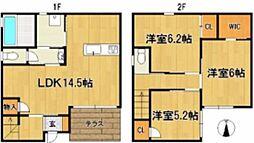 [一戸建] 福岡県久留米市山川町 の賃貸【/】の間取り