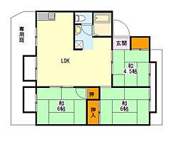 ハイツ翠香[1階]の間取り