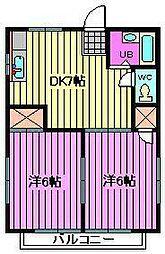 埼玉県川口市元郷4丁目の賃貸アパートの間取り