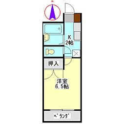 安田学研会館 東棟[106号室]の間取り