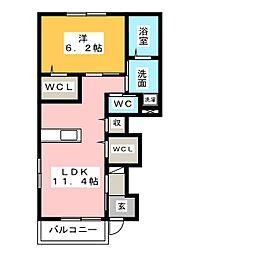 kitsilano[1階]の間取り