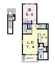 レスター・シティ[2階]の間取り