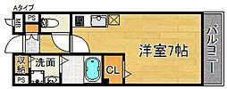 パークビサイド[1階]の間取り