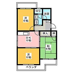 マンションオアシス[3階]の間取り