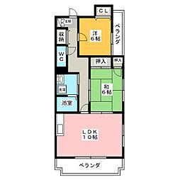 フローラみずほ[4階]の間取り