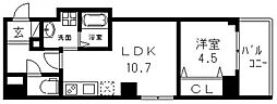 D-room小路東[502号室号室]の間取り