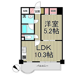 レガート横浜[603号室]の間取り