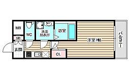 サムティ姫島FELICETO 11階1Kの間取り