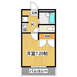 サニープレイスひたち野[2階]の間取り
