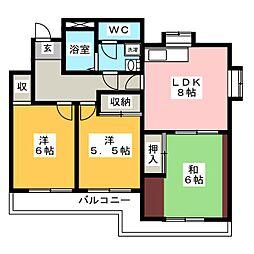 オラシオン石田[3階]の間取り