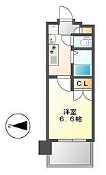パルティール御器所[6階]の間取り