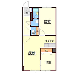 北海道札幌市厚別区厚別中央四条3丁目の賃貸マンションの間取り