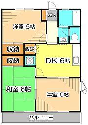 東京都清瀬市中里6丁目の賃貸アパートの間取り