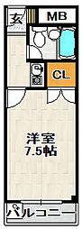 エルベラーノ宝塚[302号室]の間取り